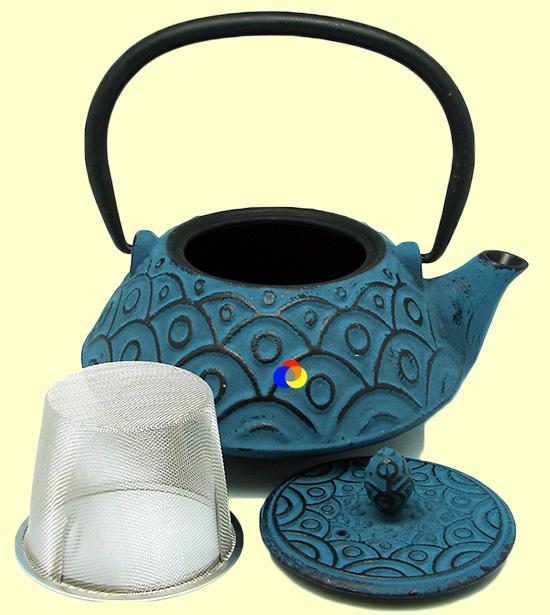 Tetsubin tetera de hierro fundido azul signes grimalt - Tetera japonesa hierro fundido ...