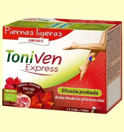 ToniVen Express - Piernas ligeras - Laboratorios Ortis - 7 ampollas