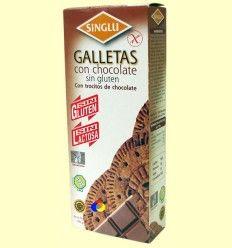 Galletas María con Chocolate Sin Gluten - Singlu - 100 gramos