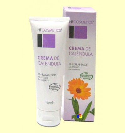 Crema de Cálendula - Emoliente - HF Cosmetics - 75 ml