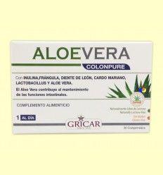Aloe Vera Colonpure - Limpieza de Colon - Gricar - 30 Comprimidos