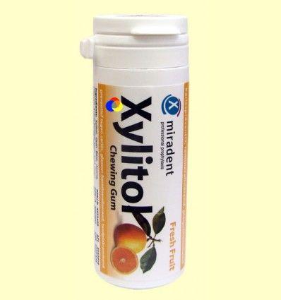 Chicles AntiCaries Xilitol Sabor Fruta Fresca - Miradent - 30 unidades