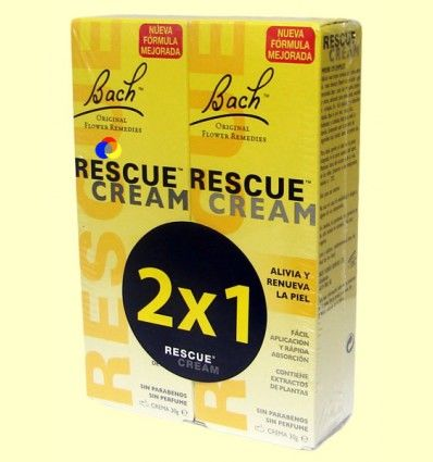 Crema Rescate 2 x 1 - Rescue Cream - Bach - 2 unidades 30 ml