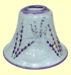 Lámpara para Vela de Cristal con Motivos Azules - 1 unidad