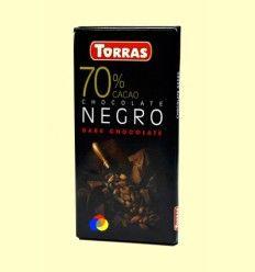 Chocolate Negro 70% Cacao - Torras - 80 gramos