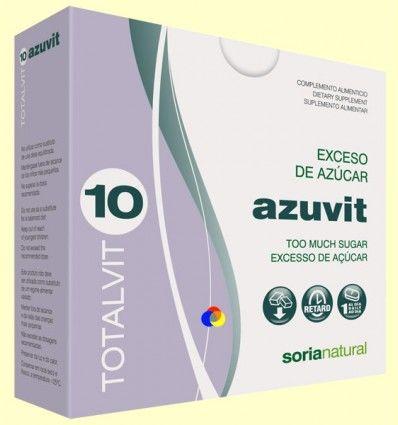Totalvit 10 Azuvit - Exceso de Azúcar - Soria Natural - 28 comprimidos