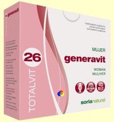 Totalvit 26 Generavit - Mujer - Soria Natural - 28 comprimidos