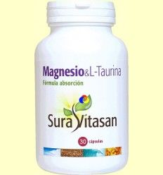 Magnesio - L-Taurina - Sura Vitasan - 30 cápsulas