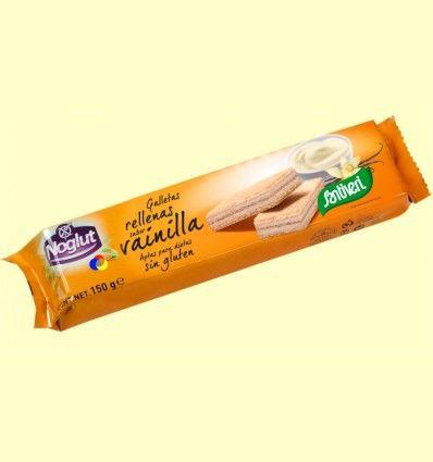 Galletas Rellenas Vainilla Noglut - Sin Gluten - Santiveri - 150 gramos