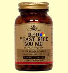 Levadura Roja de Arroz - Red Yeast Rice - Solgar - 60 cápsulas