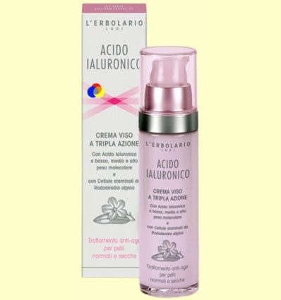 Ácido Hialurónico - Fluido cara - Anti-edad para piel normal y seca - L'Erbolario - 50 ml