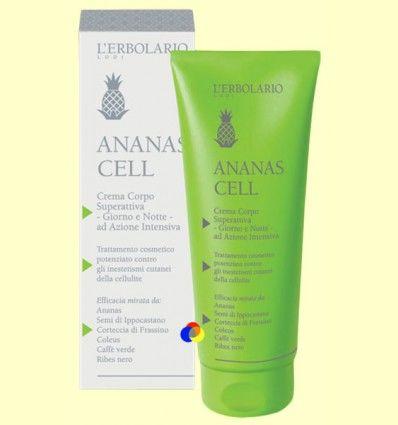 Crema Cuerpo Superactiva Día y Noche - Celulitis - Ananas Cell - L'Erbolario - 200 ml