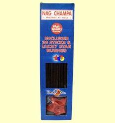 Nag Champa - Tierra 3000 - 30 sticks + base forma estrella
