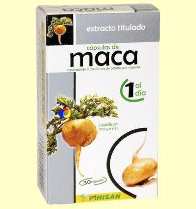 Extracto Titulado de Maca - Pinisan Laboratorios - 30 cápsulas