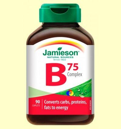 B Complex 75 mg - Complejo Vitamina B - Jamieson - 90 comprimidos