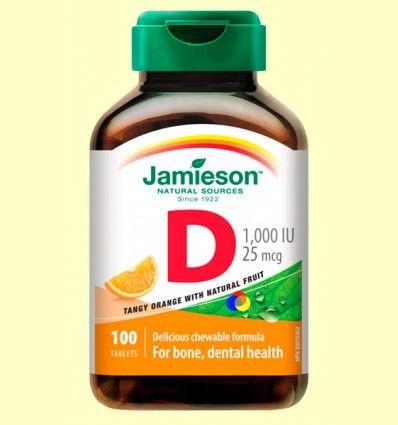 Vitamina D3 25mcg Naranja - Jamieson - 100 comprimidos