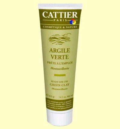 Arcilla Verde - Lista para usar - Cattier - 400 gramos