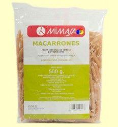 Macarrones Integrales Ecológicos - Mimasa - 500 gramos