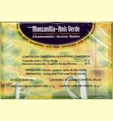Manzanilla con anís verde - Soria Natural - 20 filtros