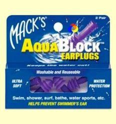 Tapones para los oídos AquaBlock - Mack's - 2 pares