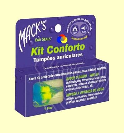 Tapones para los oídos Kit Confort EarSeals - Mack's - 1 par