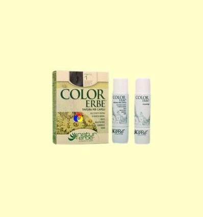 Tinte para el cabello Color Erbe 01 Negro - Natur Erbe - 135 ml