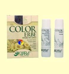 Tinte para el cabello Color Erbe 25 Negro Azulado - Natur Erbe - 135 ml