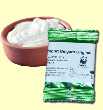 Fermentos para Yogurt Búlgaro - Kirandia - 1 sobre