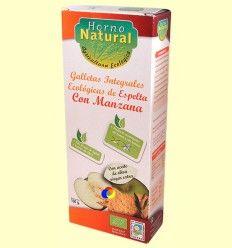 Galletas Integrales Ecológicas Espelta con Manzana - Horno Natural - 100 gramos