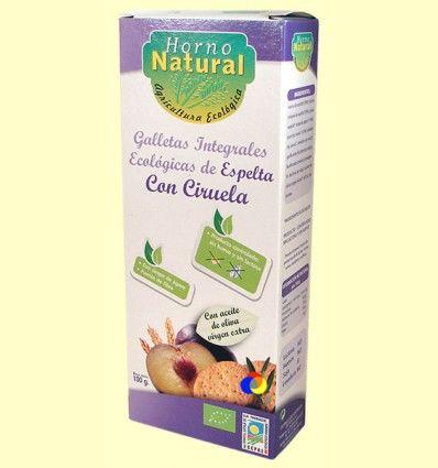 Galletas Integrales Ecológicas Espelta con Ciruela - Horno Natural - 100 gramos