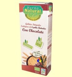Galletas Integrales Ecológicas Espelta con Chocolate - Horno Natural - 100 gramos