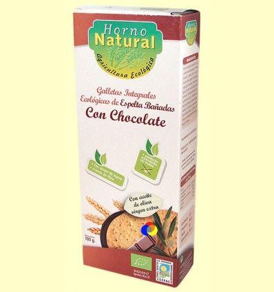Galletas Integrales Ecológicas Espelta con Chocolate - Horno Natural - 100 gramos