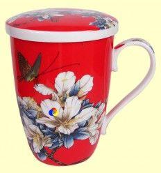 Taza para infusiones con tapa - Signes Grimalt - Dibujo Flores