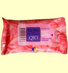 Toallitas Desmaquillantes Q10 Anti Age Rose of Bulgaria - Biofresh Cosmetics - 15 unidades