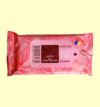 Toallitas Higiene Íntima Rose of Bulgaria - Biofresh Cosmetics - 15 unidades