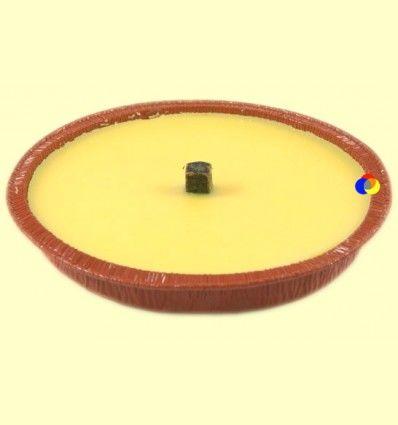 Vela de citronela para ahuyentar y repeler a los mosquitos - tarro color teja - Aromalia - 15 cm