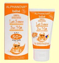 Protector Solar Ecológico SPF 50 Bebé - Alphanova Bebé - 50 gramos