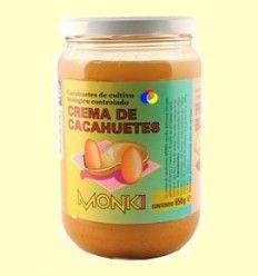 Crema de cacahuetes Bio - Monki - 650 gramos