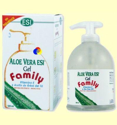Gel de Aloe Vera Family con Vitamina E y árbol del Té - Laboratorios ESI - 500 ml