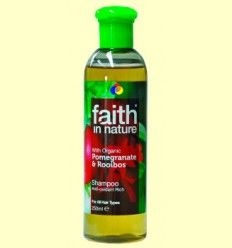 Champú Granada y Rooibos - Faith in Nature - 250 ml