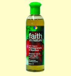 Gel de Baño de Granada y Rooibos - Faith in Nature - 250 ml