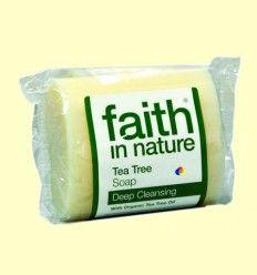 Jabón Artesanal de Árbol del Té - Faith in Nature - 100 gramos