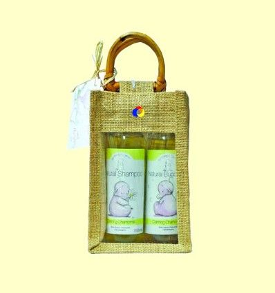 Set Bebé Manzanilla con bolsa de Yute - Faith in Nature