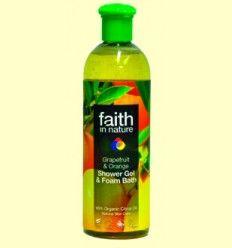 Gel de Baño de Pomelo y Naranja - Faith in Nature - 250 ml