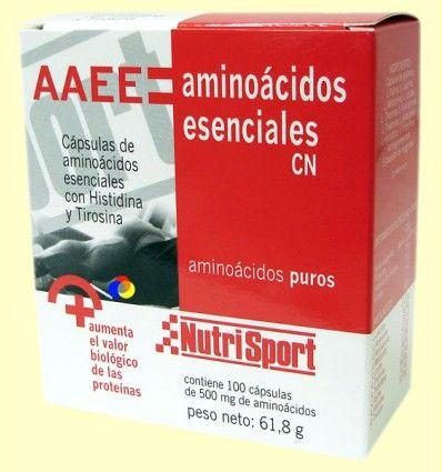 AAEE Aminoácidos Esenciales - Nutrisport - 100 cápsulas