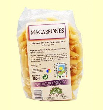 Macarrones Blancos Eco - Eco-Salim - 250 gramos