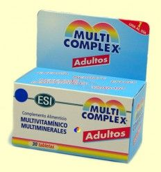 Multicomplex Adultos - Multivitamínico y multiminerales - ESI Laboratorios - 30 tabletas
