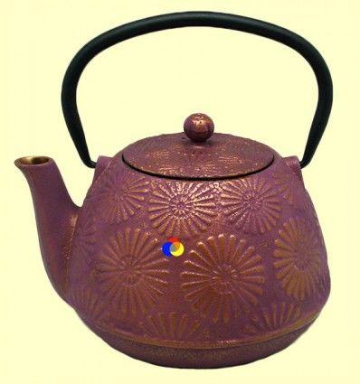 Tetsubin - Tetera de hierro fundido lila - Signes Grimalt - 1,2 l