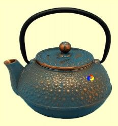 Tetsubin - Tetera de hierro fundido azul oscuro - Signes Grimalt - 600 ml