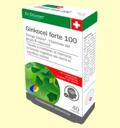Ginkocel Forte 100 - Dr Dünner - 40 cápsulas
